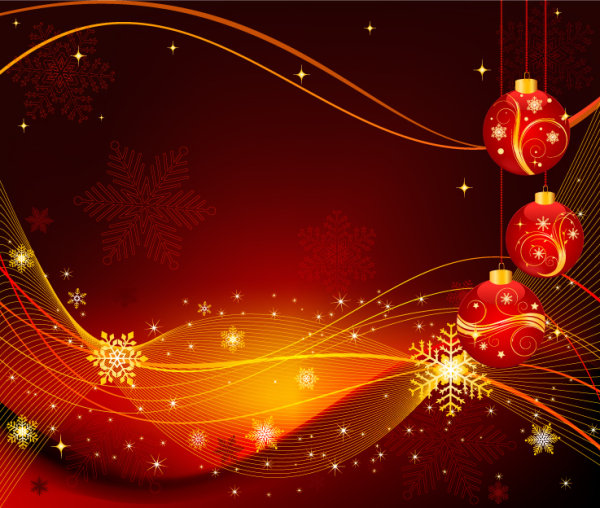 beautiful christmas ball background 02 � vector material
