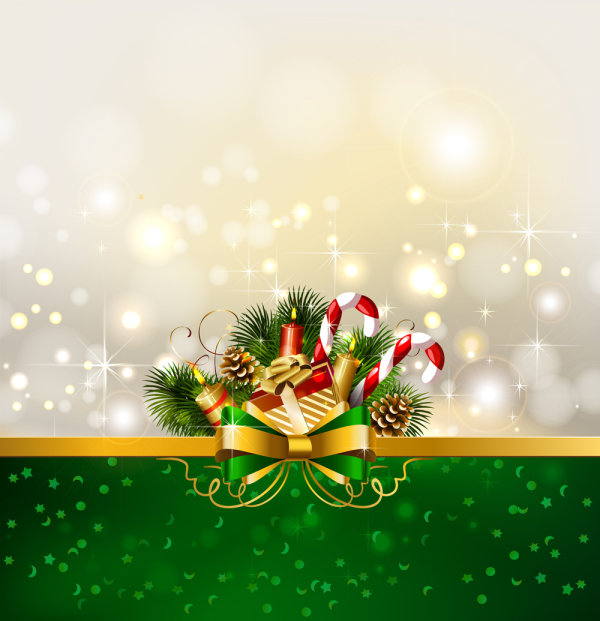 christmas decoration background 01 � vector material