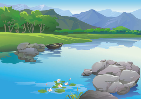 Beautiful landscapes 02 - vector Download Free Vector,PSD,FLASH,JPG--www.fordesigner.com
