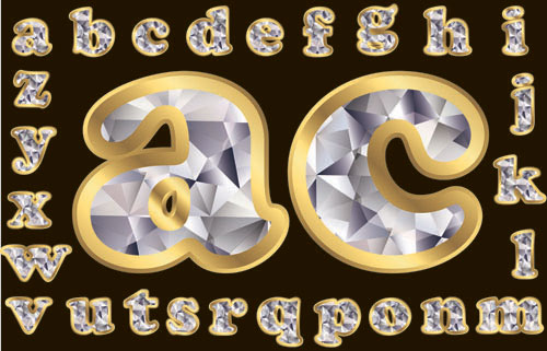 Diamond letters 02 - Vector material