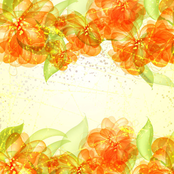 colorful flowers background 05 � vector material � over
