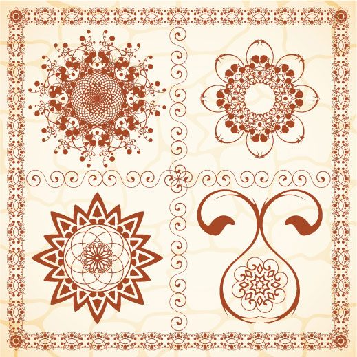 Exquisite European pattern 03 - vector material