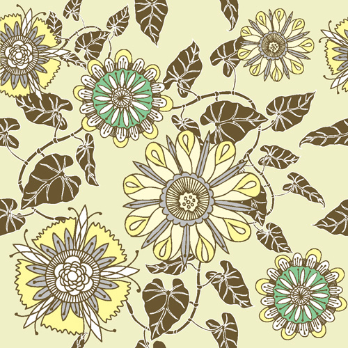 Flower patterns 05 - vector material