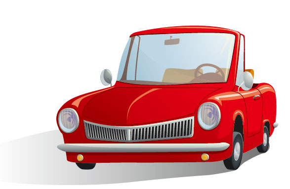 Cartoon automotive illustrator 03 - vector material