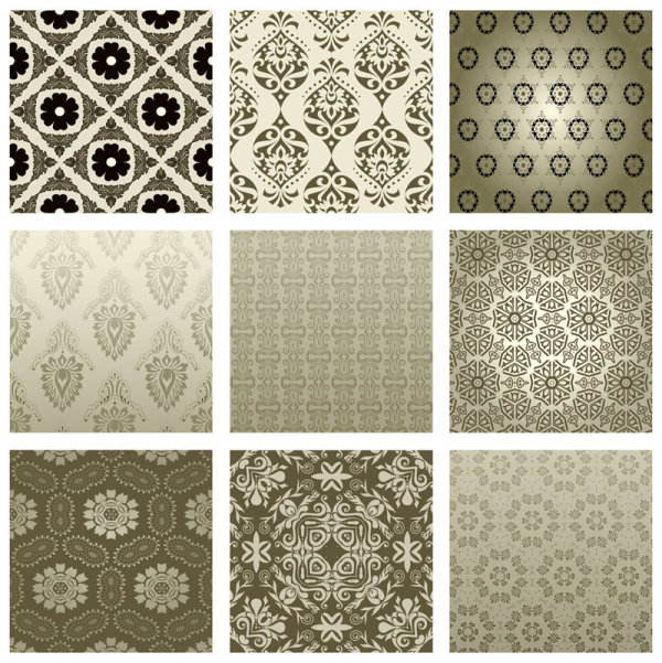The exquisite pattern background pattern 02 - vector material