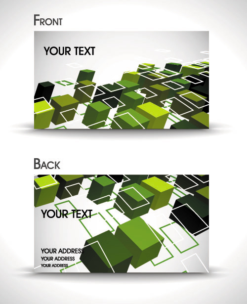 Dynamic gorgeous card background 05 - vector material