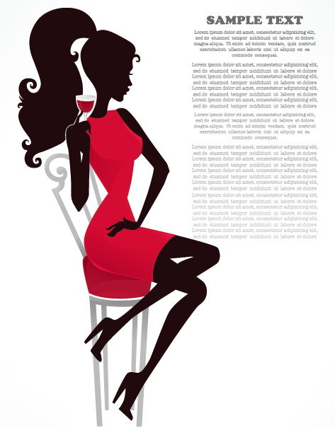 Fashion Beauty Silhouette 01 Vector Over Millions