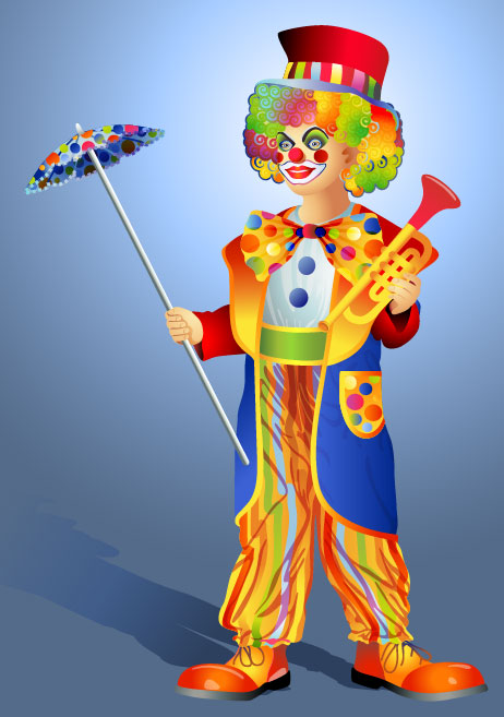 The clown illustrator 03 - vector
