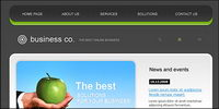 Exquisite europäischen Stil Website Templates PSD + FLA Quelldatei -2