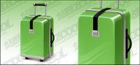 Green valise vecteur