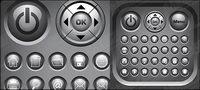 Crystal simple circulaire icône vecteur mat��riel