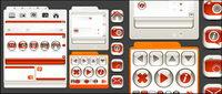 Diseño Web de material decorativo de cristal vector icono de estilo