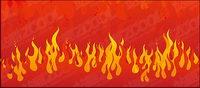 Vector de incendios que asolan el material