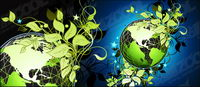 Green feuilles vecteur de la Terre