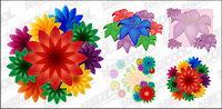 material de bellas flores de vectores