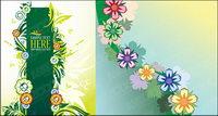 schöne Blumen Element Vektor Material