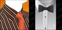 Vector de camisa y corbata de material