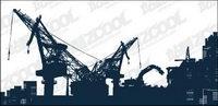 Vector Website von schweren Maschine-Schnitt-Material