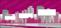 Ville blanche des panneaux de construction du mat��riel vecteur