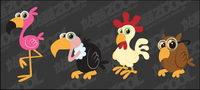 dibujos de aves de vectores materiales