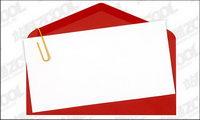 Sobres rojos de papel escrito la calidad de la imagen