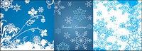 azul material de los copos de nieve vectoriales