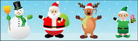 Cute cartoon Christmas