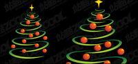 Ámbito que comprende las l¨ªneas y el material del ¨¢rbol de Navidad de vectores