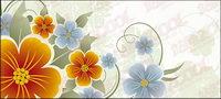 Le jaune et le bleu des fleurs vecteur mat��riel