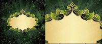 Les feuilles de la composition de la fronti��re vecteur mat��riel