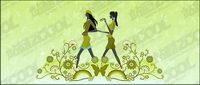 Vector Material Girl Freundschaft