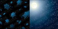 Moonlight und Schnee Vektor