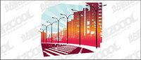 Vector städtischen Straßen-Material