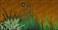 fleurs vecteur mat��riel