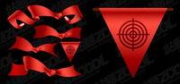 Vector Red Ribbon Material