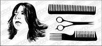 Haare Haarschnitt Vektor Material
