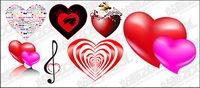 En forme de cœur, le th��me du vecteur mat��riel
