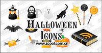 Halloween icône vecteur mat��riel