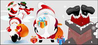 adorable Santa Claus vector material