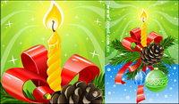 Schön dekoriert Weihnachten Vektor Material