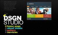 Diseñador de p¨¢gina personal de flash site-wide material de plantilla