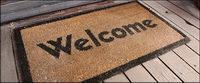 Bienvenido alfombra material de imagen