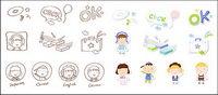 Cute icono de la serie de vectores de material-4