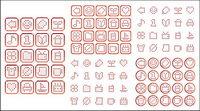 Einfache Pixel Vektorgrafiken Material-1