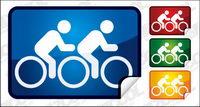 Icono de la bicicleta de doble ¨¢ngulo