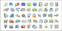Eine Reihe von Web-Design-Ikone Vektor Dekorationsmaterial