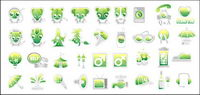 Green cute icon vecteur mat��riel
