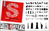 1000 album silhouette vecteur mat��riel divers-10