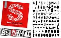 1000 album silhouette vecteur mat��riel divers-8