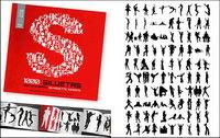 1000 album silhouette vecteur mat��riel divers-3